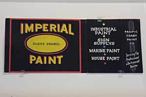 Imperial Paint, Tempera on Showcard