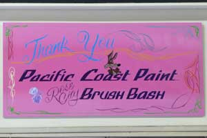Pinstriping and Lettering by Rose City Brush Bash